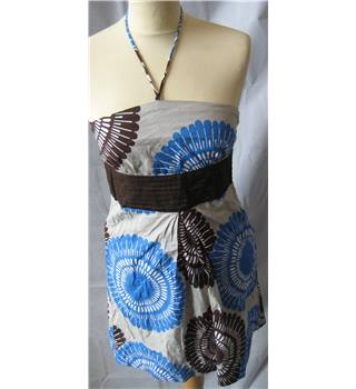 Body&Soul 100% cotton halter neck minidress size 8 Body and Soul - Size: XS - Multi-coloured - Summer