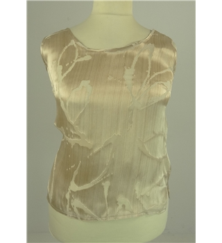 *Frank Usher Size 12 Tan and Beige Silken Mix Top