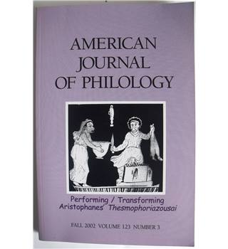 American Journal of Philology, Fall 2002, Volume 123, Number 3