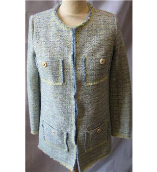 Darling Esmee tweed style raw edged long line jacket size XS Darling - Size: XS - Multi-coloured - Smart jacket / coat