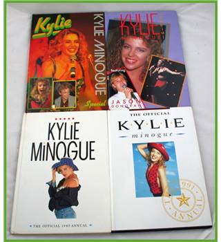 4 X Kylie Minogue annuals