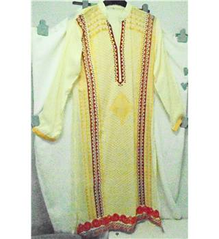 Indian Style Dress Size: S - Yellow