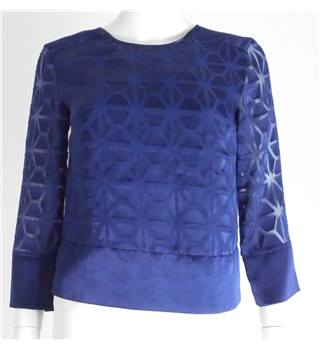 Armani Exchange Size: XS Blue Patterned Blouse