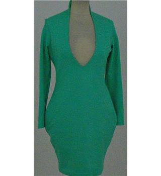 Aqua by Aqua - size: M, green, knee length dress