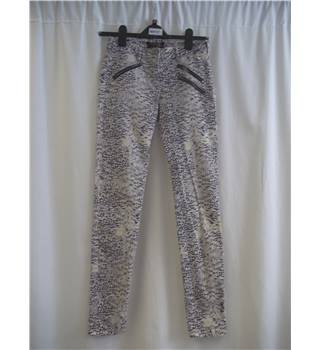 Maison Scotch - Size: XS - Cream / ivory and Blue - Patterned - Jeans