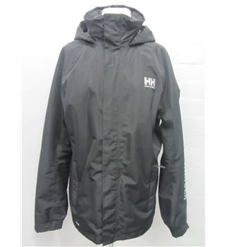 Helly Hanson Black Mens Waterproof Jacket size L Helly Hanson - Black - Coat
