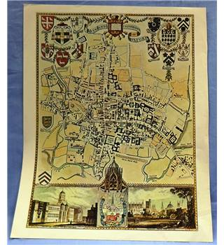 Historic Map of Oxford City (taken from a book)