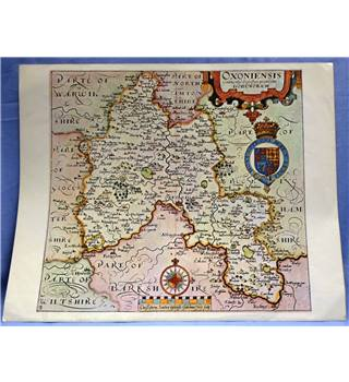 Historic Map of Oxfordshire (taken from a book)