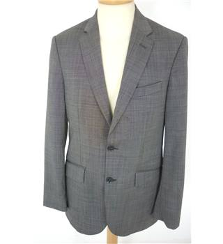 "Hackett Size: Medium, 38"" chest, tailored fit Graphite Grey Stylish Woven Wool Designer Single Breasted Designer Jacket."