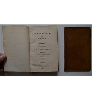 Lyrical Ballads, with Pastoral and other Poems - Wordsworth - Vol. I (3rd edition)  1802