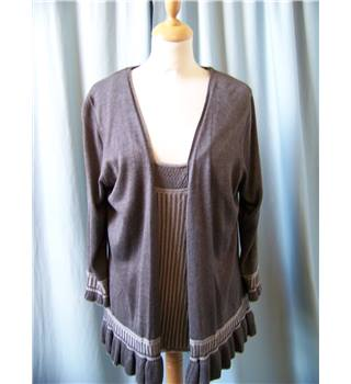 Per Una - Size: 20 - Brown - Cardigan and camisole twin set