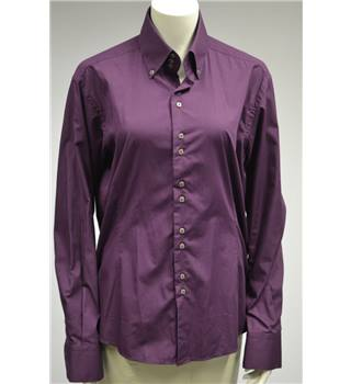 Remus Uomo- Size L (Slim Fit) - Purple - Shirt