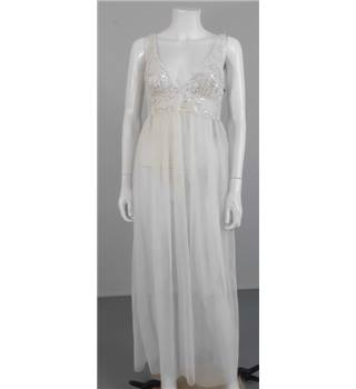 Unbranded Size 10 Sheer Midi Length Beach Wedding Gown