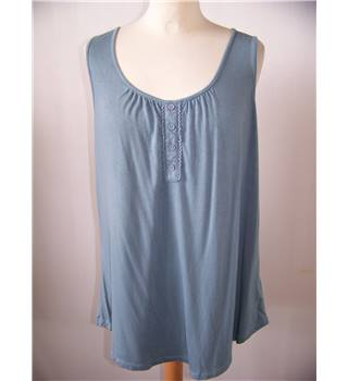 cable and gauge - Size: XL - Blue - Blouse
