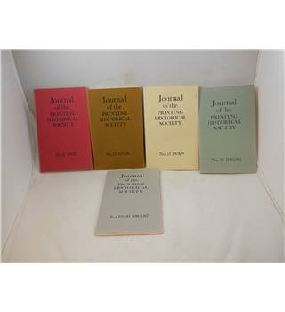 Journal of the Printing Historical Society - set of 5