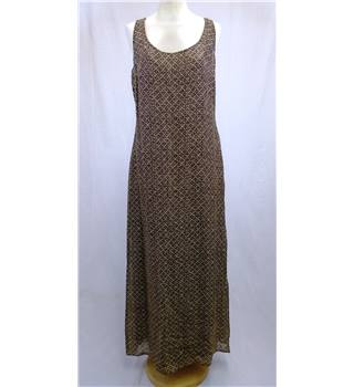Max Mara - Size 12 - Long Brown Patterned Dress