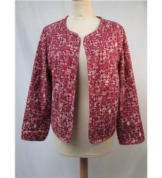 M&S Marks & Spencer Indigo Collection - Size: 14 - Burgundy Pattered - Jacket