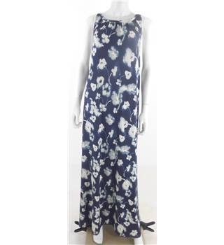 ASOS Size 10 Blue Floral Print Backless Boho Inspired Maxi Dress