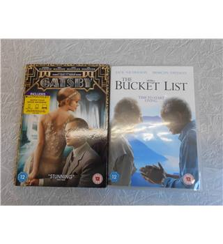 DVD Twin Pack - The Great Gatsby (2013) and The Bucket List 12