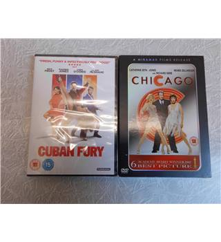 DVD Musical & Comedy Twin Pack - Cuban Fury + Chicago cert 15