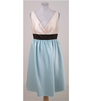 BNWT Wtoo by Watters & Watters, size 10 cream & turquoise dress