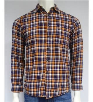 Flannel - Size XS - Blue and Orange - Checked Shirt