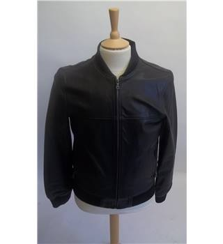 M&S Limited Edition Leather Jacket Black Size Small