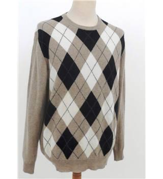 low cost nice cheap promo codes Pierre Cardin Size M Light Brown Argyle Patterned Cashmere Jumper | Oxfam  GB | Oxfam's Online Shop