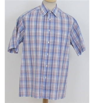 M&S size: S blue mix checked short sleeved shirt