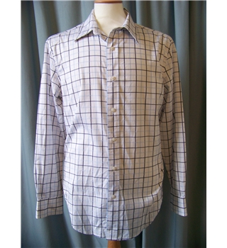 Gap - Size: L -White with blue checks Long sleeved shirt