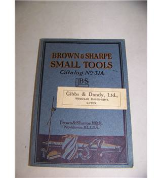 Brown & Sharp Small Tools