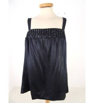 Monsoon Size Large Black Monsoon Beaded Satin Top