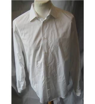 COS 100% cotton slim fit white shirt size 42 COS - Size: L - White - Long sleeved