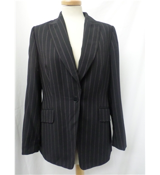 Planet - Size: 12 - Black with patterned stripes -  Beautiful wool jacket