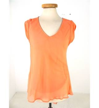 Reiss Size 6 Peach Sleeveless Top