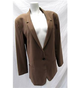 M&S Size 116 Smart Brown Jacket M&S Marks & Spencer - Size: 16 - Brown