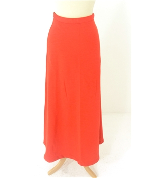 Vintage 60's Jean Allen of London Size: 10 Bright Terracotta High waisted Long skirt
