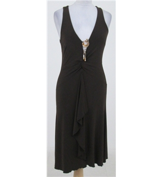 River Island: Size 12: Brown sleeveless dress