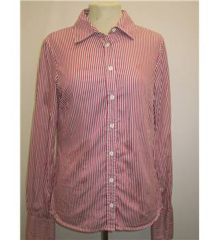 Ted Baker - Size: 10 -Red and White Striped - Long sleeved shirt