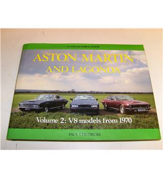 Aston Martin and Lagonda a Collectors Guide Volume 2 V8 Models from 1970 by Paul Chudecki  1st ed 1990 with good d/j