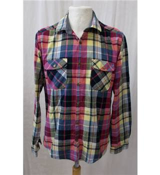 Ted Baker Size: M Multi-coloured Check Long sleeved Shirt