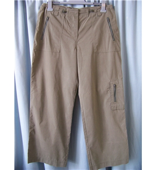 M&S size: 14 khaki green cargo trousers