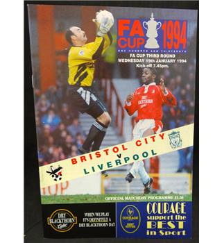 Bundle of Bristol  City Programmes includes Liverpool FC Manchester United FC