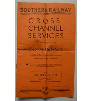 Southern Railway Cross-Channel Services - 1934