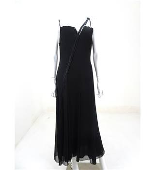 Betty Barclay Size M Black Frill Occasion Dress