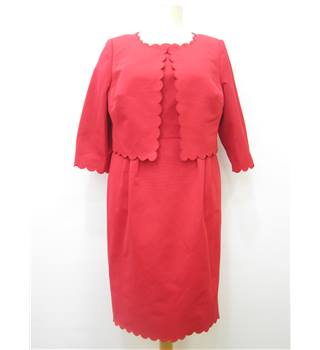 Autograph Size 16 Red Ladies' Dress Suit M&S Marks & Spencer - Size: 16 - Red - dress