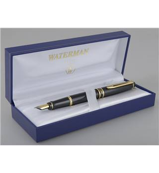 Waterman Expert Black Lacquer Gold Trim Fountain Pen