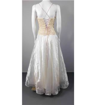 Handmade Gold Size 10/12 Wedding Gown