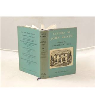 Letters Of john Keats Selected By Frederick Page Published By Oxford University Press 1952