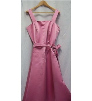 Unbranded Size: L Light Pink Satin Bridesmaid Dress